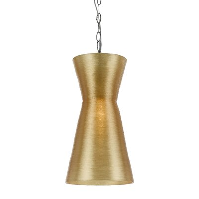 Aimee 1-Light Mini Pendant Shade Color: Gold