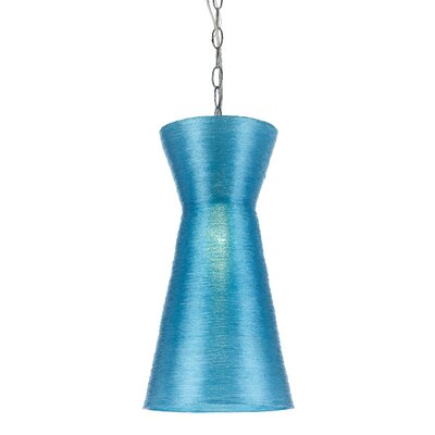 Aimee 1-Light Mini Pendant Shade Color: Blue