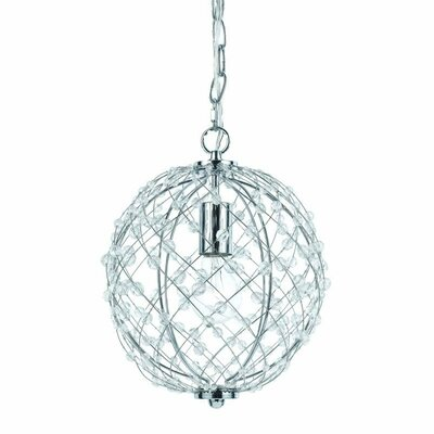 Silver Web 1-Light Pendant