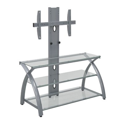 Futura TV Stand Finish: Silver/Clear