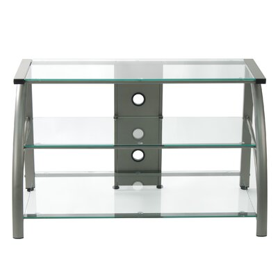 Stilletto TV Stand Finish: Champagne/Clear