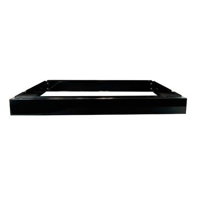 Flat File Riser Size: 4 H x 46.75 W x 35.5 D, Color: Black