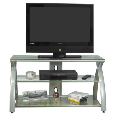 Futura 42 TV Stand Color: Silver with Clear Glass