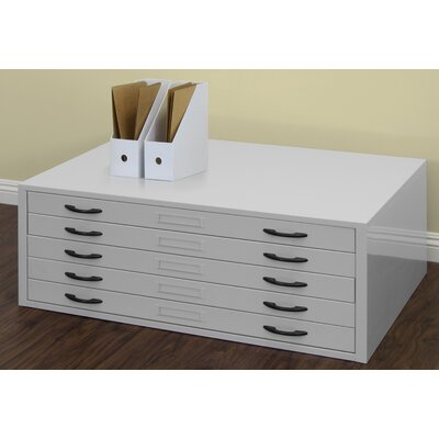 Flat File Filing Cabinet Size: 15.5 H x 40.75 W x 28.5 D, Color: Gray