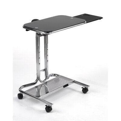 Studio Designs Laptop Cart with Mouse Pad in Chrome - Glass: Clear at Sears.com