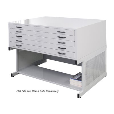 "Studio Designs 19.75"" x 40.75"" Flat File Stand in Light Grey at Sears.com"