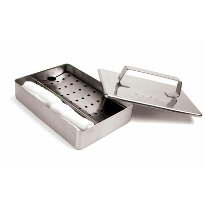 Steven Raichlen Grill Grate Oiling Set / Stainless Dish with 2 Towels