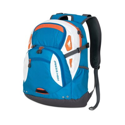High Sierra Scrimmage Laptop Daypack - Color: Blue/Orange at Sears.com