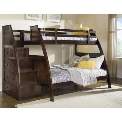 Sebring Twin over Full Bunk Bed with Storage Finish: Espresso