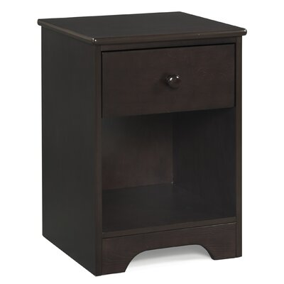 Pine Creek 1 Drawer Nightstand Finish: Espresso