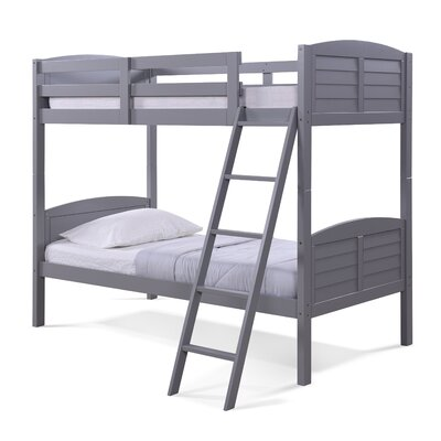 Panama Beach Twin over Twin Slat Bunk Bed Finish: Pebble Gray
