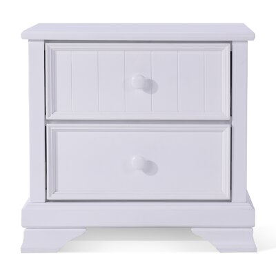 Sebring 2 Drawer Nightstand Color: White