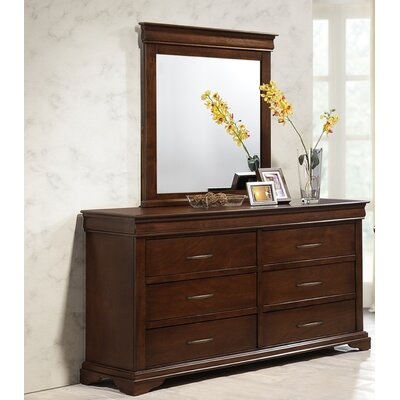Maple Ridge 6 Drawer Double Dresser