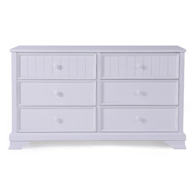 Sebring 6 Drawer Dresser Color: White