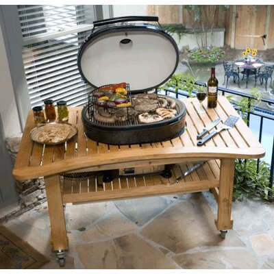 Teak Table for Extra Large Oval Grill