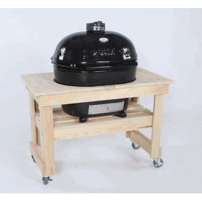 Compact Cypress Table for Extra Large Oval Grill