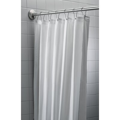 Antimicrobial Nylon/Vinyl Shower Curtain Size: 72 H x 48 W