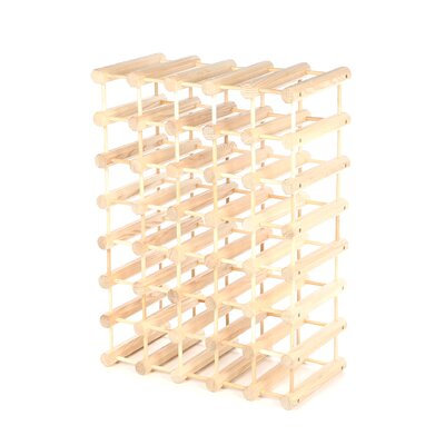 Bemadette 40 Bottle Floor Wine Rack Finish: Natural