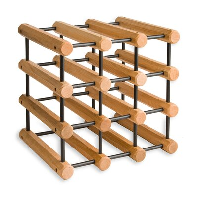 Sollars 12 Bottle Tabletop Wine Rack Finish: Penguin