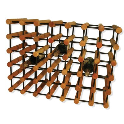 Bemadette 40 Bottle Floor Wine Rack Finish: Penguin