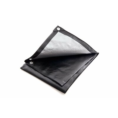 Image of 10 Ft. W x 20 Ft. D Tarp Color: Black / Silver
