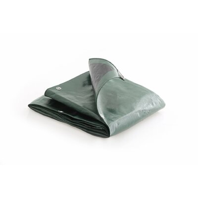 Image of 10 Ft. W x 20 Ft. D Tarp Color: Green / Black