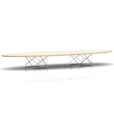Eames Elliptical Table Top Finish: White Base Finish: Black