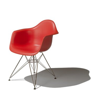 low price herman miller eames dar molded plastic arm chair with