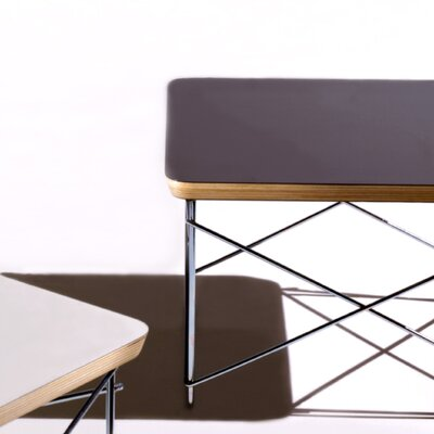 Credit for Eames Wire-Base Table Finish: White...