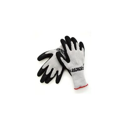 Radnor 10 Cut Gray Medium Weight Cotton/Polyester Black Palm Coated Work Gloves With Light Red Hem (144 Pair Per Case) at Sears.com