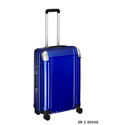 "ZERO Halliburton Geo Polycarbonate 24"" 4 Wheel Spinner Travel Case - Color: Blue at Sears.com"