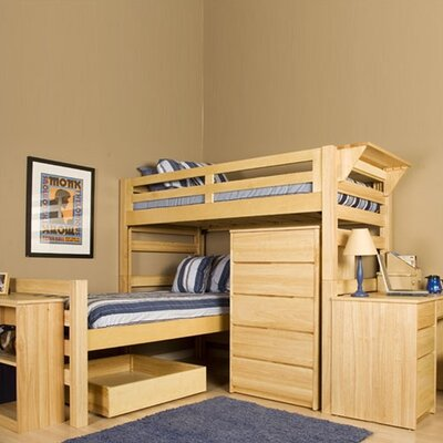 ... Senior Crew Twin L-Shaped Bunk Bed with Built-In Ladder | Bed Junction