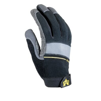 Valeo Inc Black Full Finger Box Handler Gloves w/ GripTack Dots On Palm & Thumb, Sweat Wipe On Thumb, Stretch-Knit Back, & Hook & Loop Cuf at Sears.com