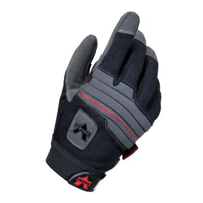Valeo Inc Black Full Finger Mechanics Anti-Vibe Gloves w/ AV GEL Padded Palm & Thumb, Stretch-Knit Back, Padded Knuckles & Hook & Loop Cuf at Sears.com