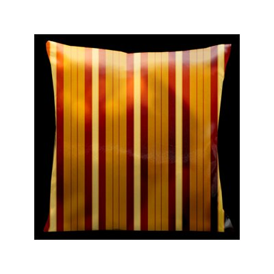 Como Gardens Striped Microsuede Throw Pillow
