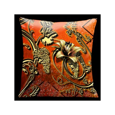 Como Gardens Filigree Microsuede Throw Pillow