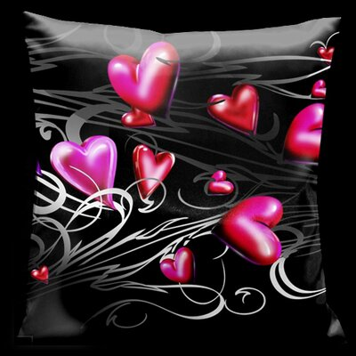 Valentine Hearts Throw Pillow