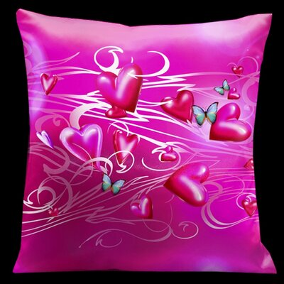 Butterflies Valentines Throw Pillow