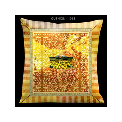 Aged Effect Pillow in Antique Orange