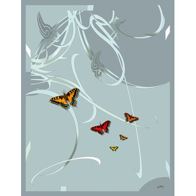 Butterflies and Beauty Throw Color: Silver