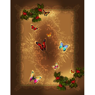 Holiday Happiness Butterflies Throw
