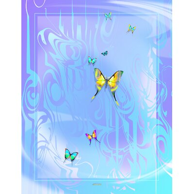 Winter Wonderland Butterflies Throw