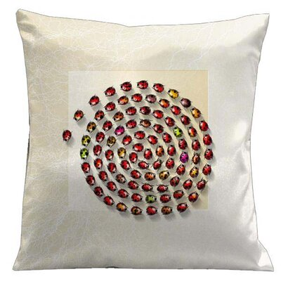 Botanic Ladybugs Microsuede Throw Pillow