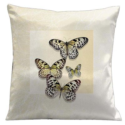 Botanic Butterflies Microsuede Throw Pillow