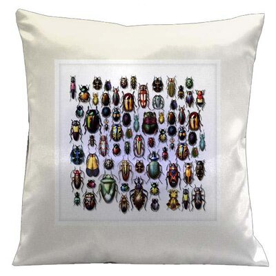 Botanic Beetles Microsuede Throw Pillow