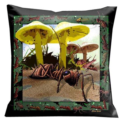 Botanic Fantasy Bugs and Ants Microsuede Pillow