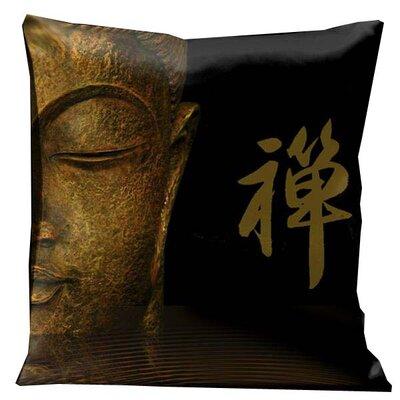 Zen Half Buddha Throw Pillow