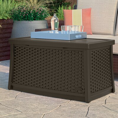 Deck Storage Coffee Table Finish: Dark Brown