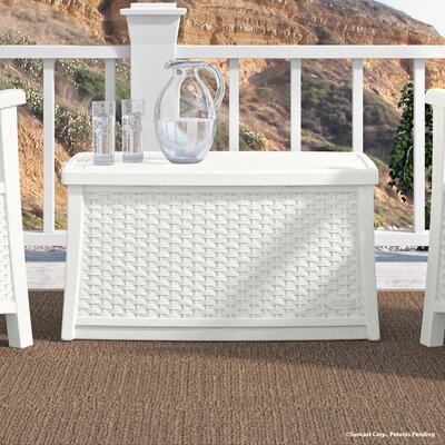 Deck Storage Coffee Table Finish: White