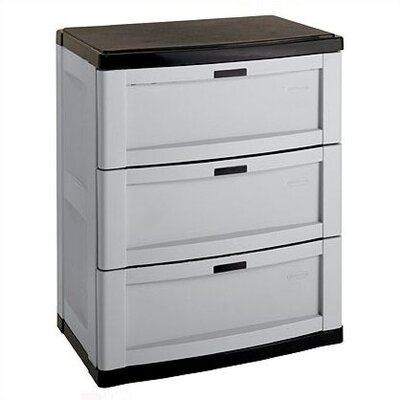 Suncast 3 Drawer Utility Storage Cabinet - Color: Grey at Sears.com